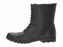 Steve Madden Women Black Troopa-R Lace Up Boots - Thumbnail