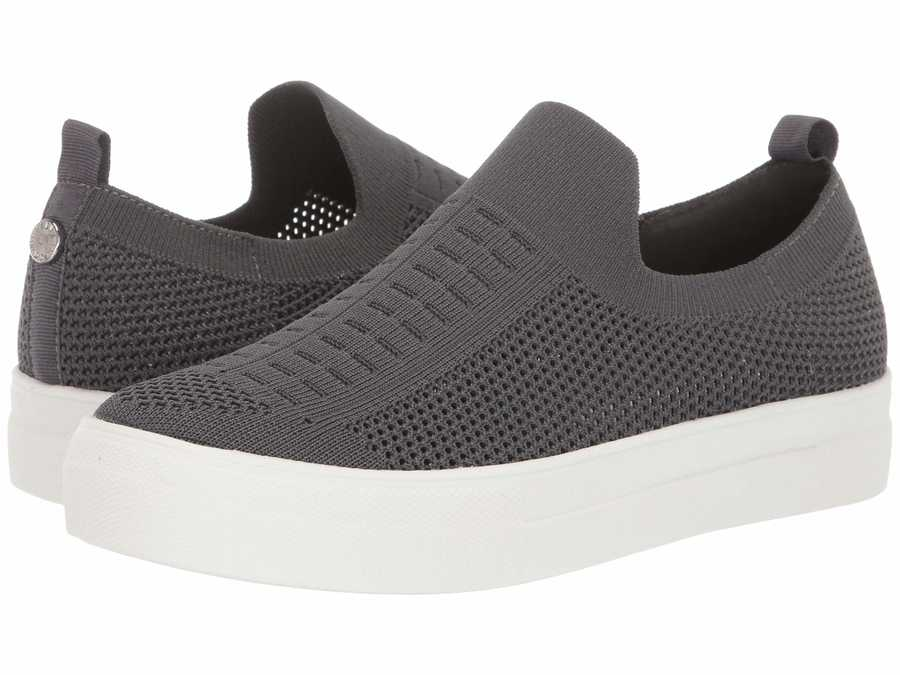 Steve Madden Women Grey Daray Slip-On Sneaker Lifestyle Sneakers