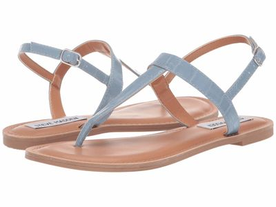 Steve Madden - Steve Madden Women Light Blue Lanza Flat Sandals