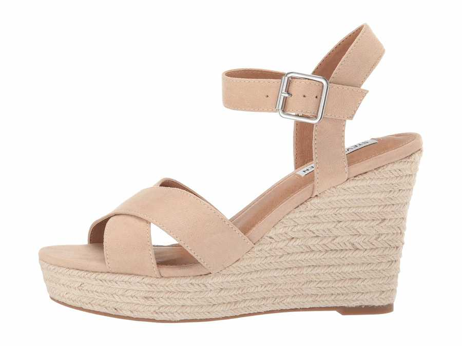 Steve Madden Women Natural Siesta Wedge Heels