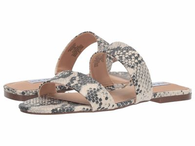 Steve Madden - Steve Madden Women Natural Snake Breathless Flat Sandals