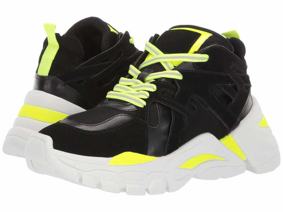 Steve Madden Women Neon Green Traina Sneaker Lifestyle Sneakers