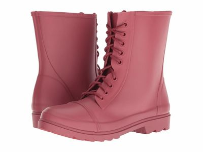 Steve Madden - Steve Madden Women Red Troopa-R Lace Up Boots