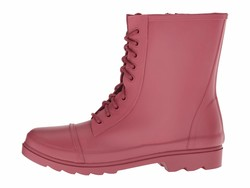 Steve Madden Women Red Troopa-R Lace Up Boots - Thumbnail