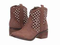 Steve Madden Women Tan Suede Dude Ankle Bootsbooties - Thumbnail