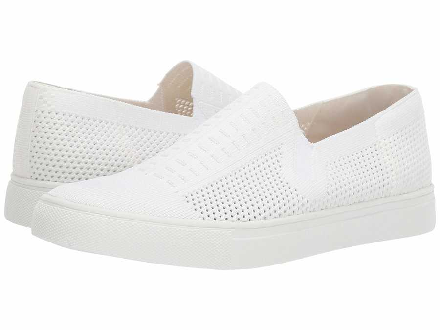 Steve Madden Women White Freeda Slip-On Sneaker Lifestyle Sneakers