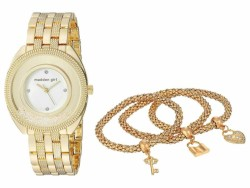 Steve Madden Women's Madden Girl Watch with Charm and Stone Bracelet Set SMGS017 - Thumbnail