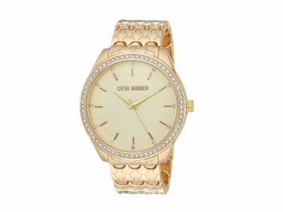 Steve Madden - Steve Madden Women's Textured Alloy Band Watch SMW170