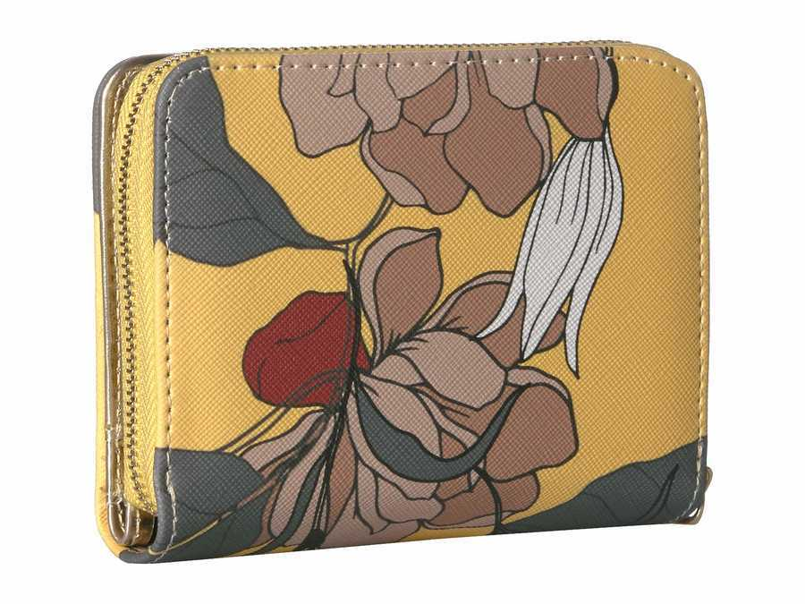 Steve Madden Yellow French Wallet Bi-Fold Wallet