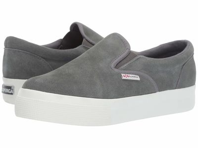 Superga - Superga Women Dark Grey Suede 2306 Suew Sneaker Lifestyle Sneakers