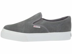 Superga Women Dark Grey Suede 2306 Suew Sneaker Lifestyle Sneakers - Thumbnail