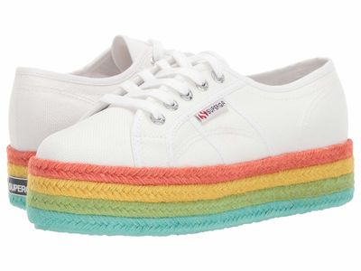 Superga - Superga Women White Multi 2790 Cotmultiropew Lifestyle Sneakers