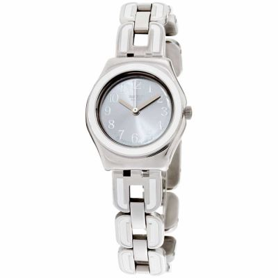 Swatch - Swatch Irony White Chain Silver Dial Stainless Steel Ladies Watch YSS254G