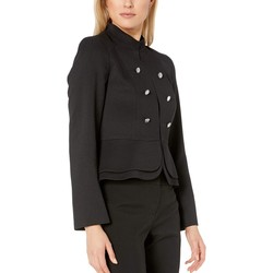 Tahari By Asl Black Double Peplum Jacket - Thumbnail