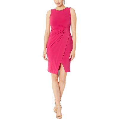 Taylor - Taylor Hibiscus Sleeveless Sheath Dress