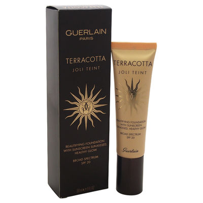 Guerlain - Terracotta Joli Teint Beautifying Foundation with Sunscreen - Dark 1oz