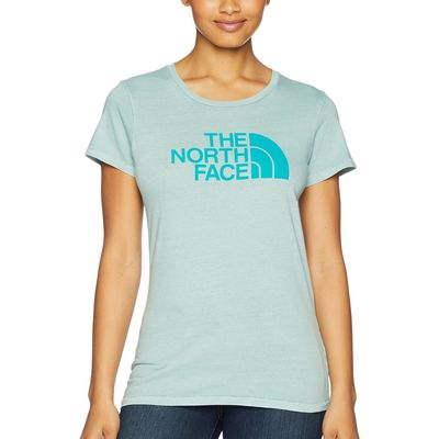 The North Face - The North Face Blue Haze/Porcelain Green Short Sleeve 1/2 Dome Pigment Crew Tee
