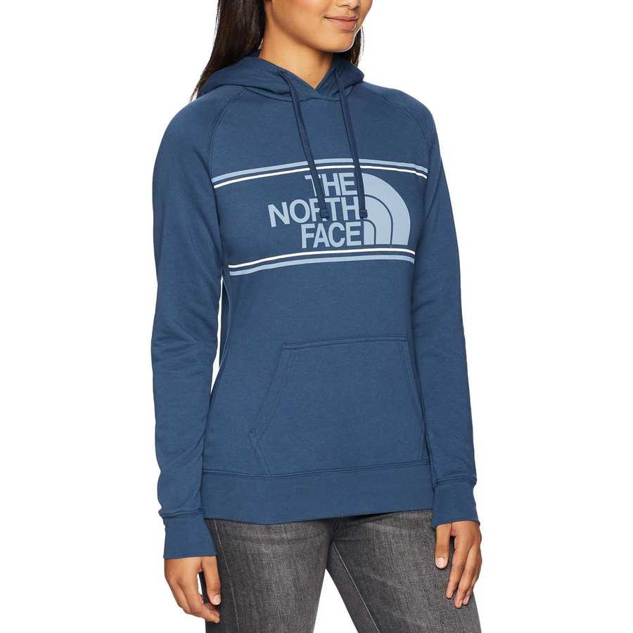 The North Face Blue Wing Teal Edge To Edge Pullover Hoodie