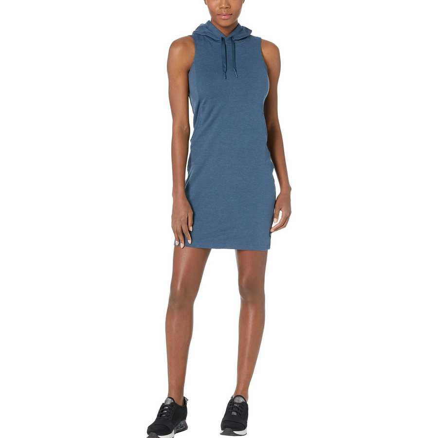 The North Face Blue Wing Teal Heather Bayocean Sleeveless Hooded Dress