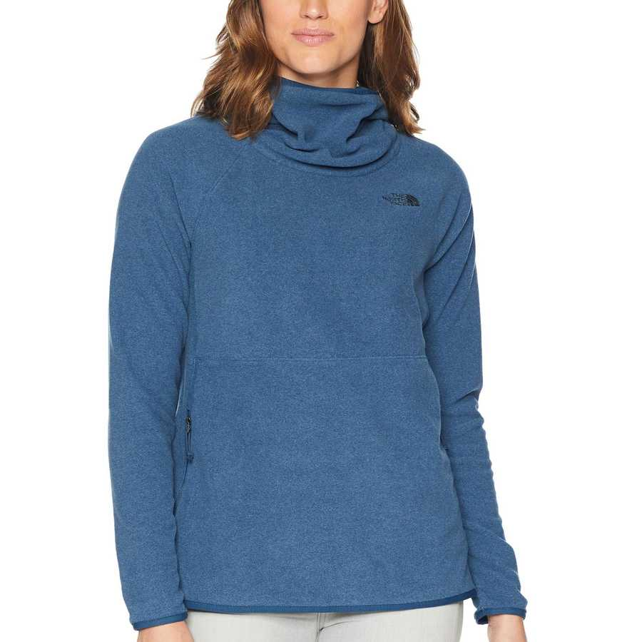 The North Face Blue Wing Teal Heather Glacier Alpine Pullover Hoodie