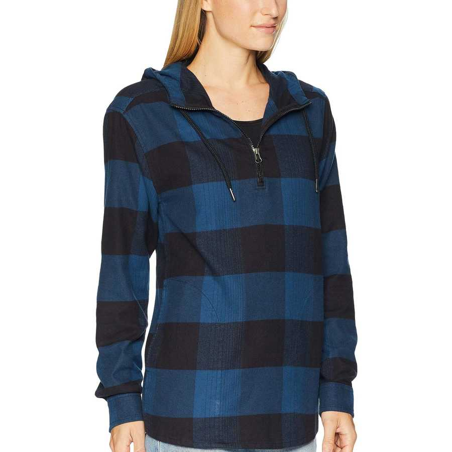 The North Face Blue Wing Teal Large Bowden Plaid Stayside Pullover Shirt