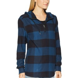 The North Face Blue Wing Teal Large Bowden Plaid Stayside Pullover Shirt - Thumbnail