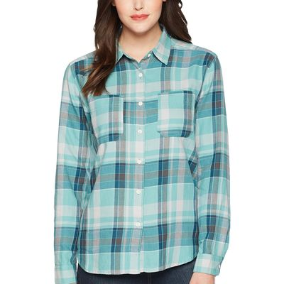 The North Face - The North Face Bristol Blue Sierra Plaid Long Sleeve Castleton Shirt