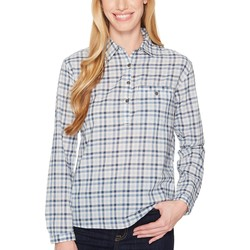 The North Face Dusty Blue Gingham Barilles Pullover Shirt - Thumbnail