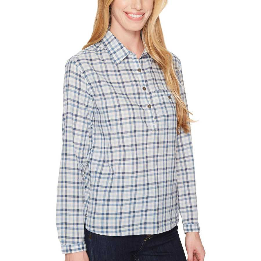 The North Face Dusty Blue Gingham Barilles Pullover Shirt