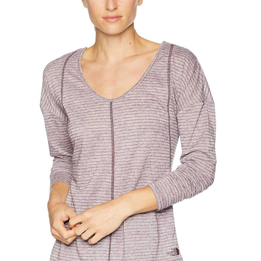 The North Face Fig Stripe Beyond The Wall Natural Fiber Long Sleeve Shirt