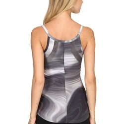The North Face Graphite Grey Water Swirl Print (Prior Season) Rio Tank Top - Thumbnail
