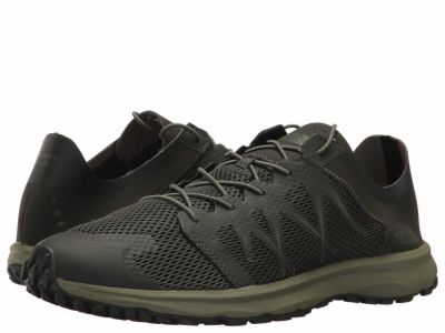 The North Face - The North Face Men's Black Ink Green Four Leaf Clover Litewave Flow Lace Lifestyle Sneakers