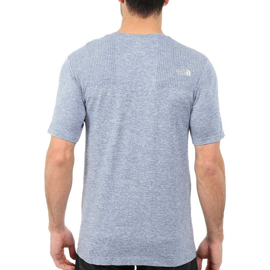 The North Face Moonlight Blue Heather (Prior Season) Short Sleeve Engine Crew