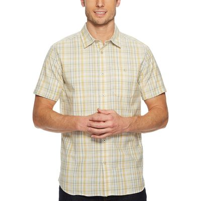 The North Face - The North Face Olivenite Yellow Plaid Short Sleeve Baker Shirt