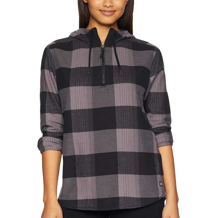 The North Face Rabbit Grey Large Bowden Plaid Stayside Pullover Shirt