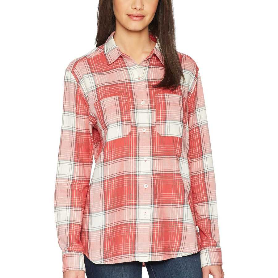 The North Face Sunbaked Red Trailhead Plaid Long Sleeve Castleton Shirt