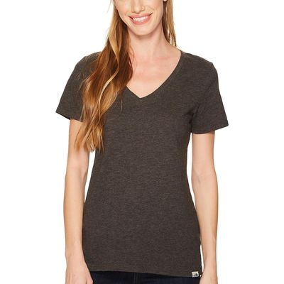 The North Face - The North Face Tnf Dark Grey Heather Short Sleeve Sand Scape V-Neck Tee