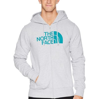 The North Face - The North Face Tnf Light Grey Heather/Everglade Half Dome Full Zip Hoodie