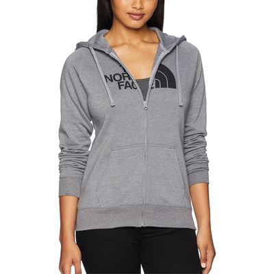 The North Face - The North Face Tnf Medium Grey Heather/Tnf Black 1/2 Dome Full Zip Hoodie