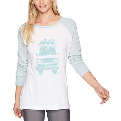 The North Face - The North Face Tnf White Heather/Blue Haze Heather Long Sleeve Take To Nature Tri-Blend Tee