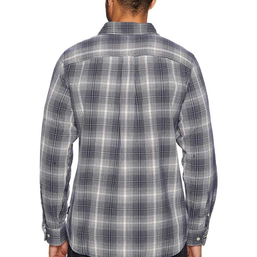 The North Face Urban Navy Plaid Long Sleeve Alpine Zone Shirt