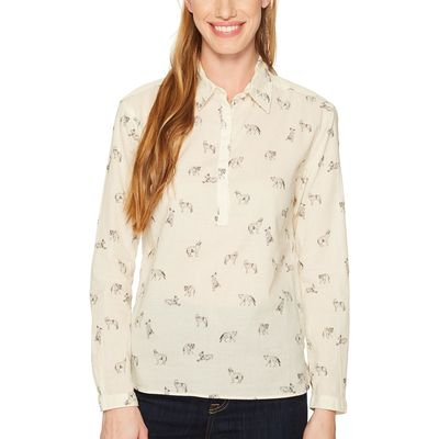 The North Face - The North Face Vintage White Coyotes Print Barilles Pullover Shirt