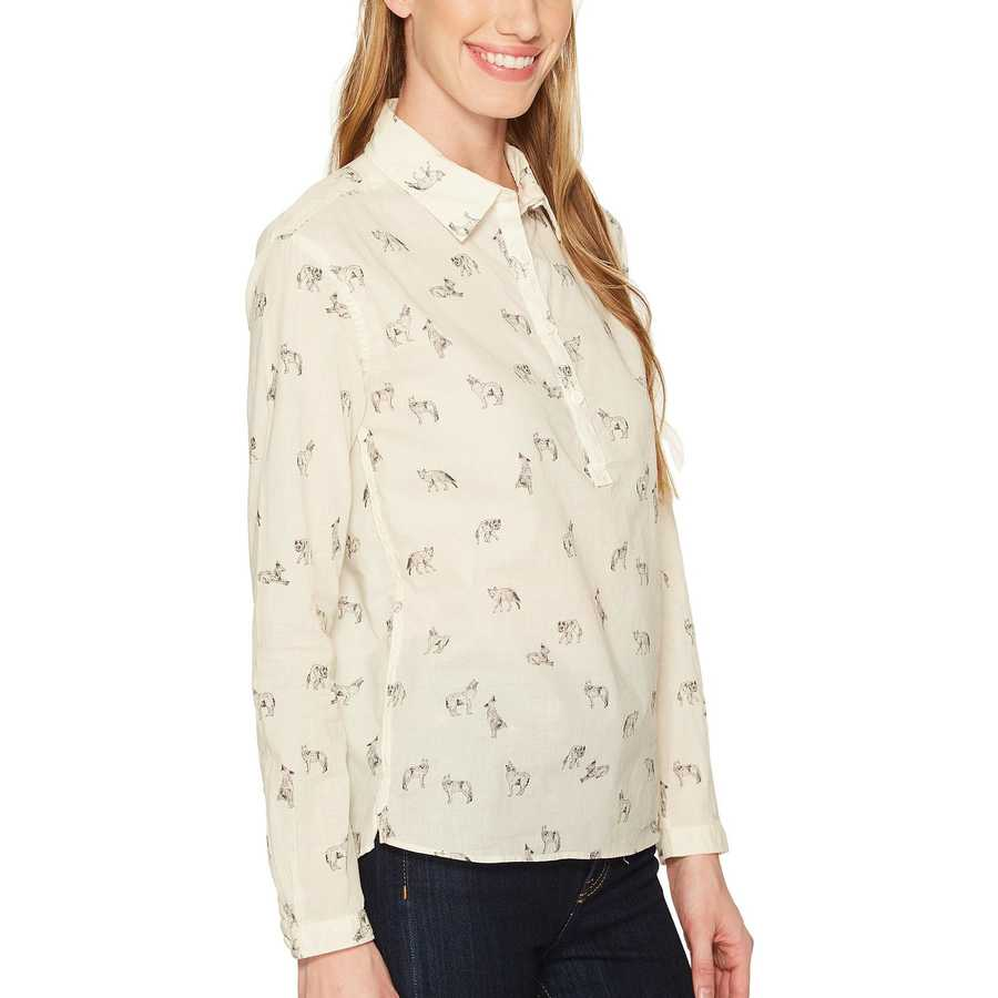 The North Face Vintage White Coyotes Print Barilles Pullover Shirt