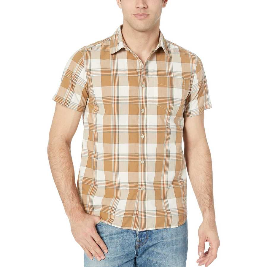 The North Face Vintage White Mylo Plaid Short Sleeve Hammetts Shirt