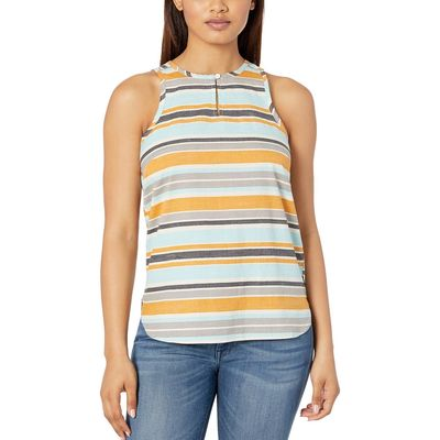 The North Face Vintage White Variegated Stripe Print Sleeveless Bayward Top