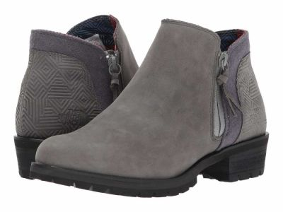 The North Face - The North Face Women's Dark Gull Grey TNF Black (Prior Season) Bridgeton Bootie Zip Ankle Boots Booties