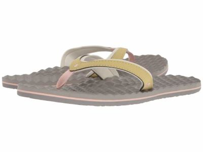 The North Face - The North Face Women's Foil Grey Olivenite Yellow Base Camp Plus Mini Flip Flops