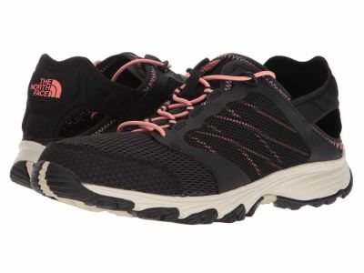 The North Face - The North Face Women's TNF Black Desert Flower Orange Litewave Amphibious II Hiking Climbing Shoes