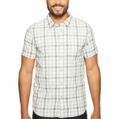 The North Face Zinc Grey Plaid (Prior Season) Short Sleeve Getaway Shirt