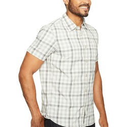 The North Face Zinc Grey Plaid (Prior Season) Short Sleeve Getaway Shirt - Thumbnail